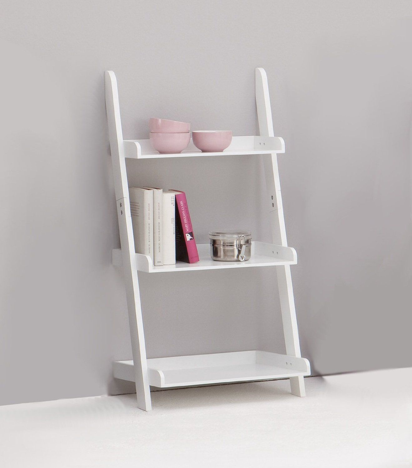 image ladder bookshelf design simple furniture. enchanting ladder bookshelf magically beautify your home interior simple white wooden three tier with paint color image design furniture