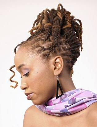 Astounding 1000 Images About Loc Wedding Hairstyles On Pinterest Updo Short Hairstyles For Black Women Fulllsitofus