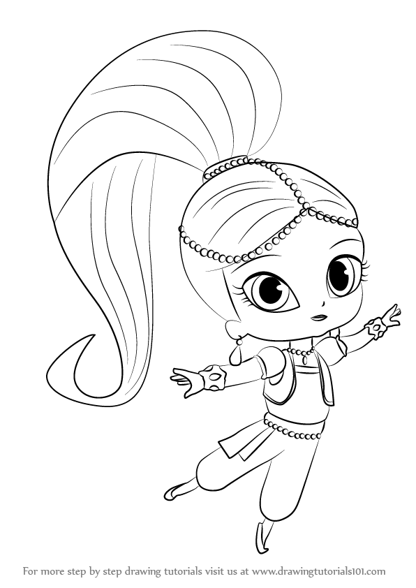 How to Draw Shimmer from Shimmer and Shine - DrawingTutorials101.com ...