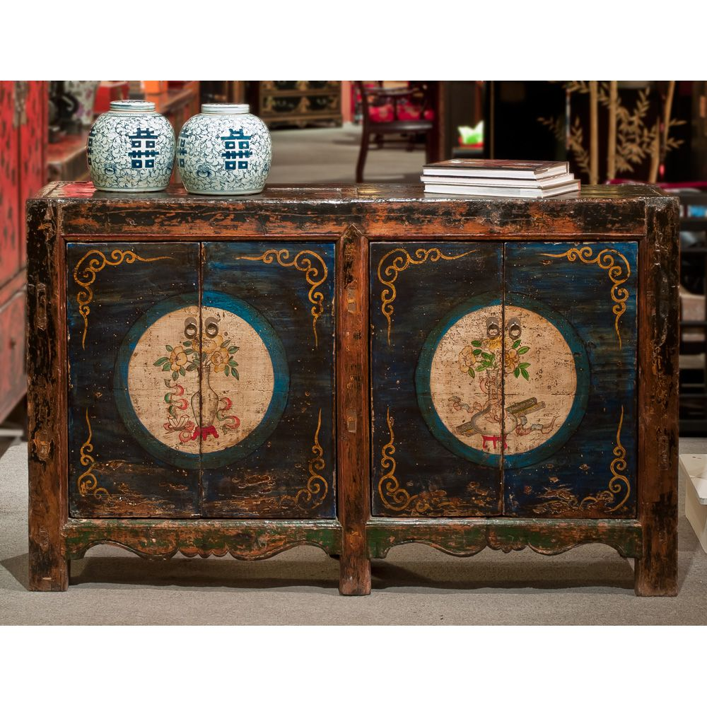 Hand Painted Mongolian Cabinet In 2020