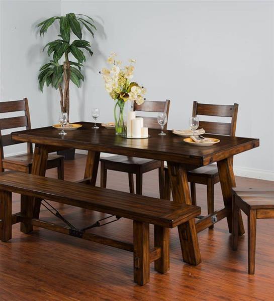 sunny designs tuscany vintage mocha 5pc dining room set in 2019 rh pinterest com