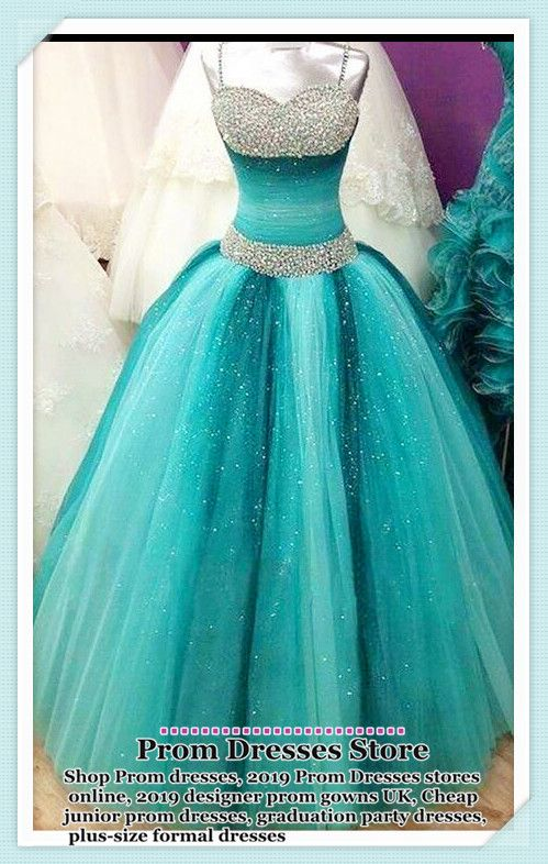 Prom Dresses Boho, Spaghetti Straps Long Ball Gown Prom Dresses,Beading Sequin Shiny Prom Gowns,Quinceanera Dresses,Modest Prom Dress FOr Teens M000128 #modestprom