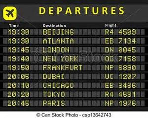 Eps Vector Of Departure Board Destination Airports Busiest Airports Departures Board Airport Signs Airplane Party