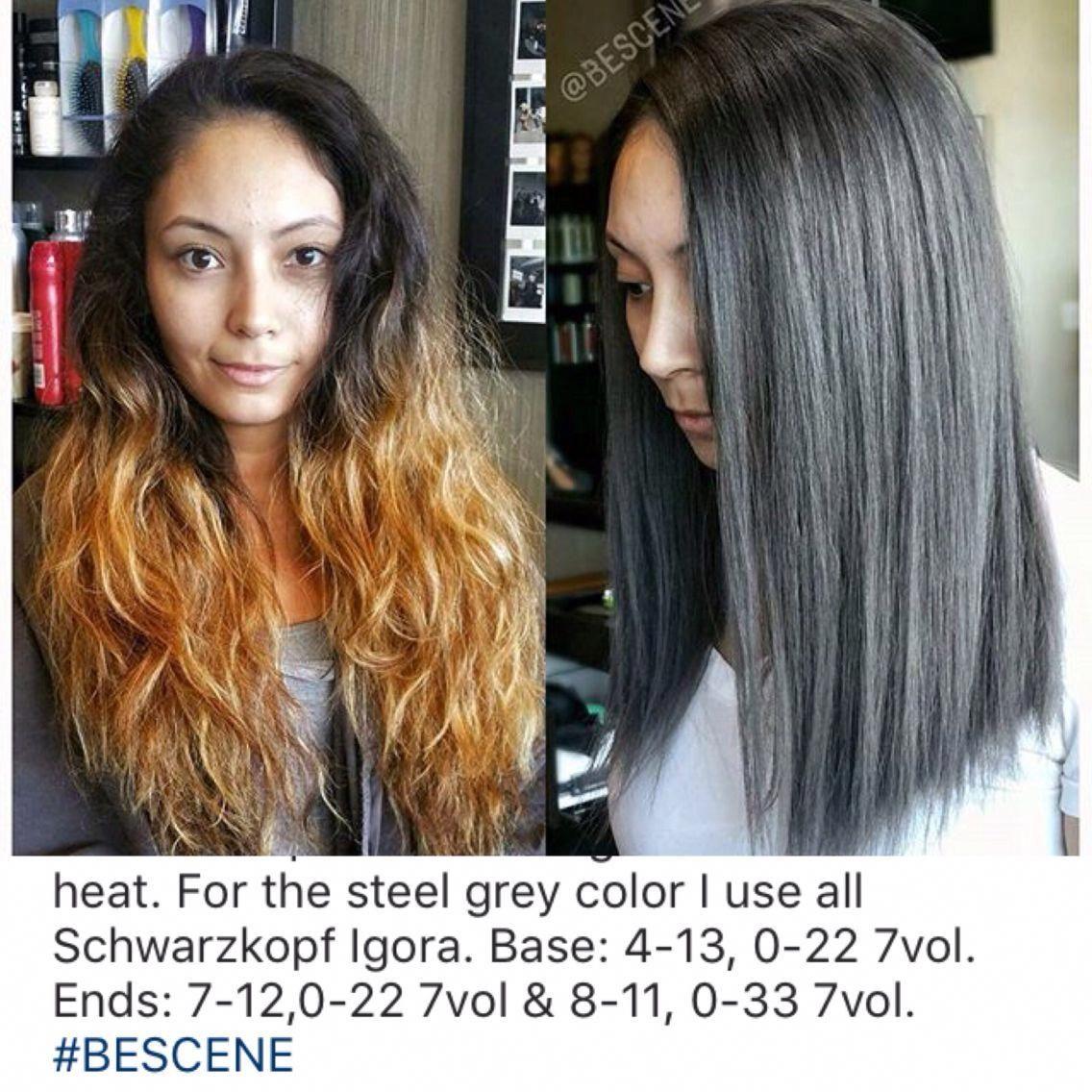 Grayhairreversal Schwarzkopf Hair Color Grey Hair Formula Wella Hair Color Formulas