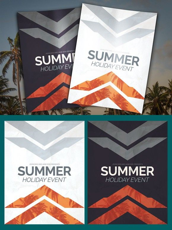 Summer Holiday Event Flyer Psd Flyer Template Event Flyers And
