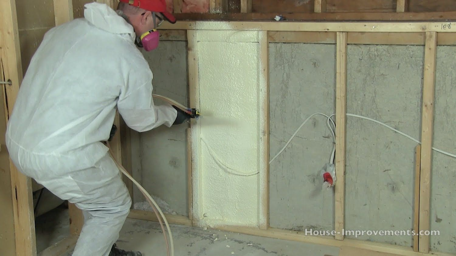 how to install spray foam insulation diy container housing spray rh pinterest com