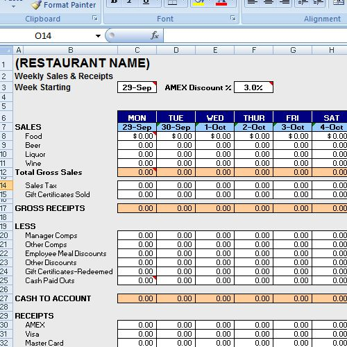 Sales Weekly Excelsheet  Excel    Planner Template