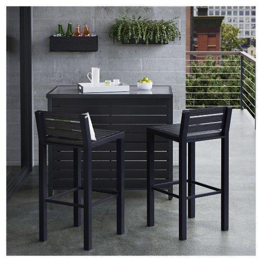 bryant 2pk faux wood patio bar stool black project 62 for our rh pinterest com