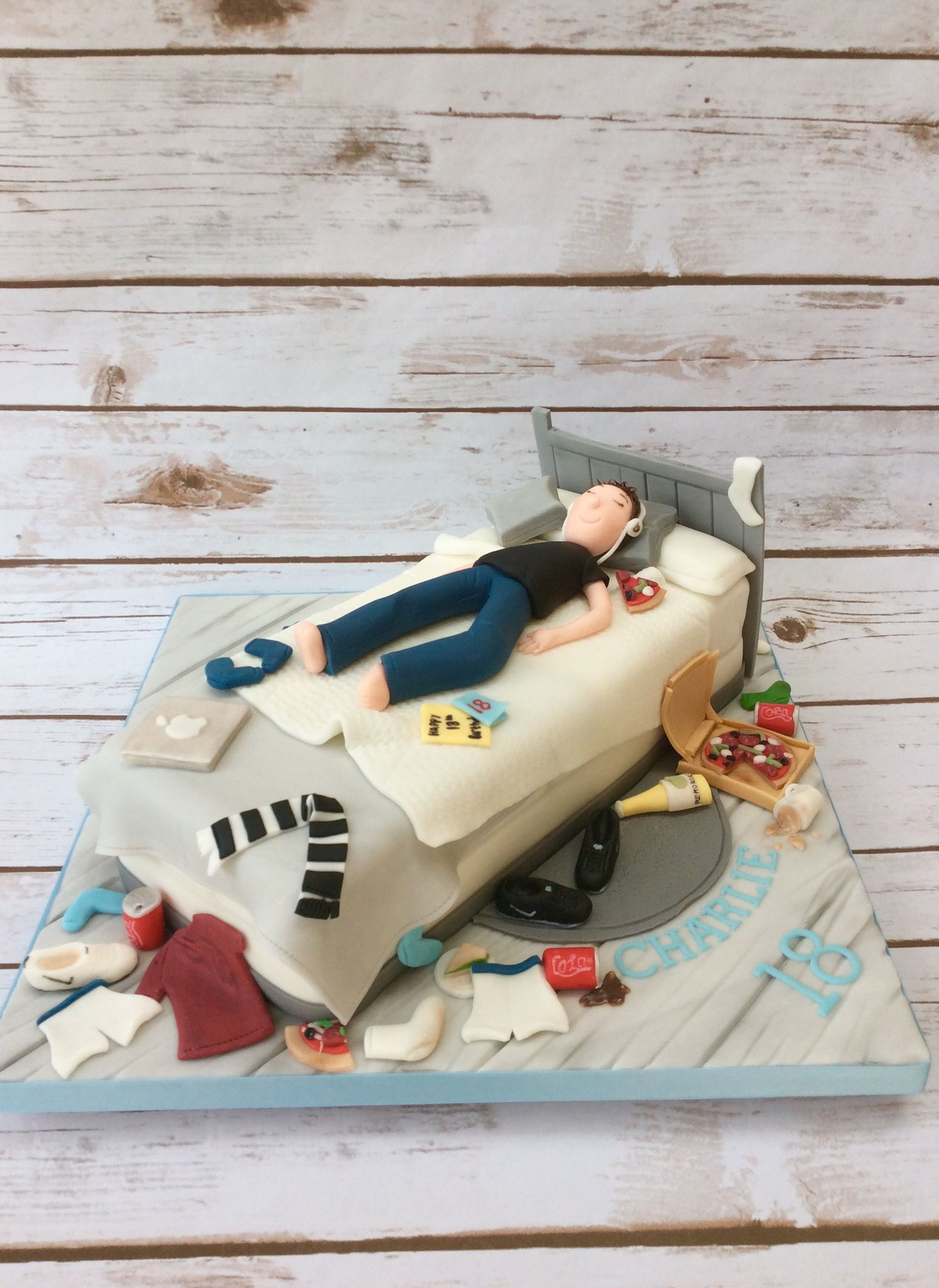 Teenagers Messy Bed Cake Boys 18th Birthday Teenage Boy Cakes For