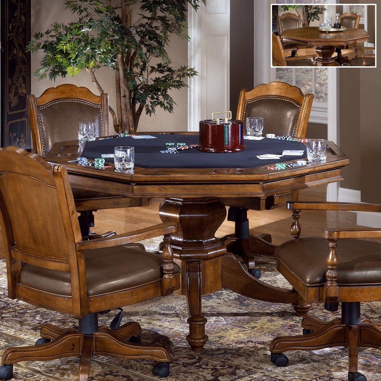 hillsdale furniture 6060gtbc nassau game table set rustic rh pinterest com
