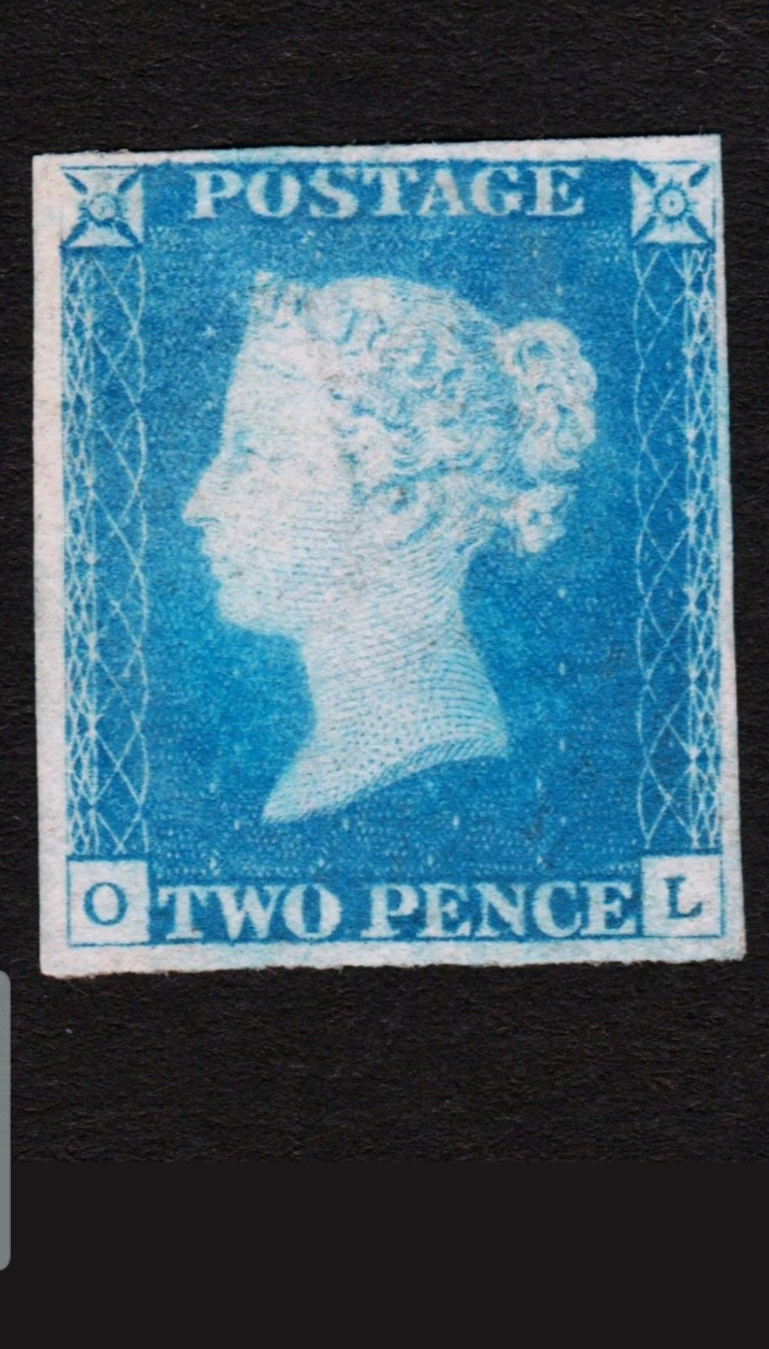 GB : 1840 2d sg# 6 ds9 , Mint full Gum