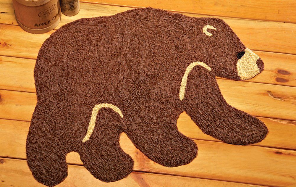 Bear Shaped Indoor Accent Rug