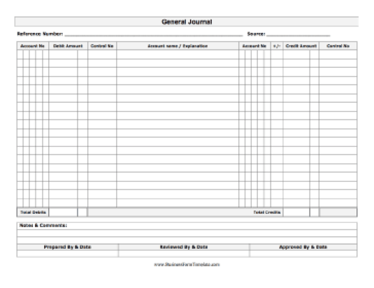 General Journal Template 4974 Journal Template Templates Management Information Systems