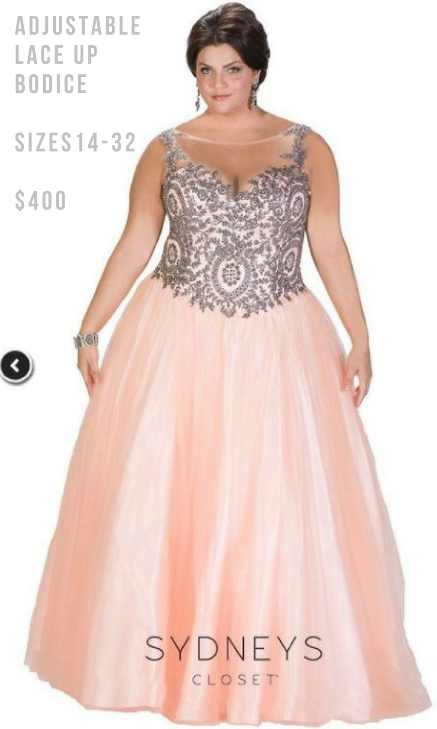 I love this peach ball gown, it looks like a princess would wear it ...