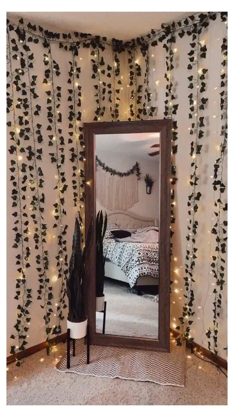 lights in bedroom window treatments