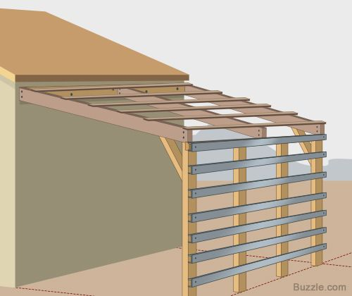 how to build a strong and sturdy lean to roof wood