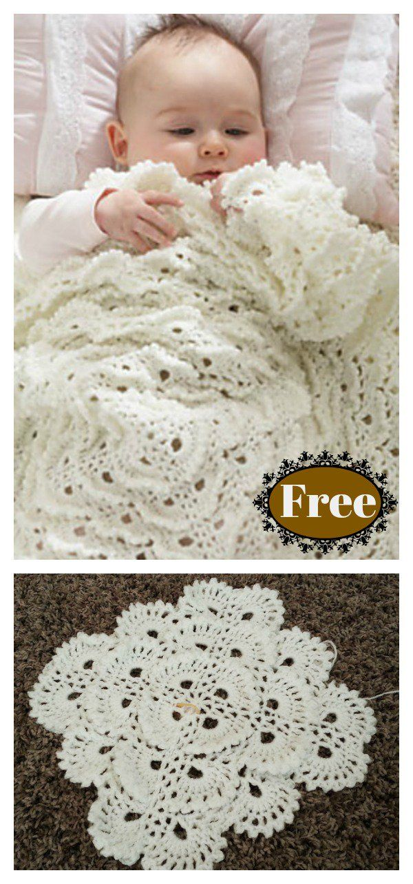 Fluffy Meringue Stitch Baby Blanket Free Crochet Pattern and Video ...