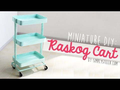 Ikea Inspired: Miniature Raskog Cart (DIY) #dollhouseminiaturetutorials