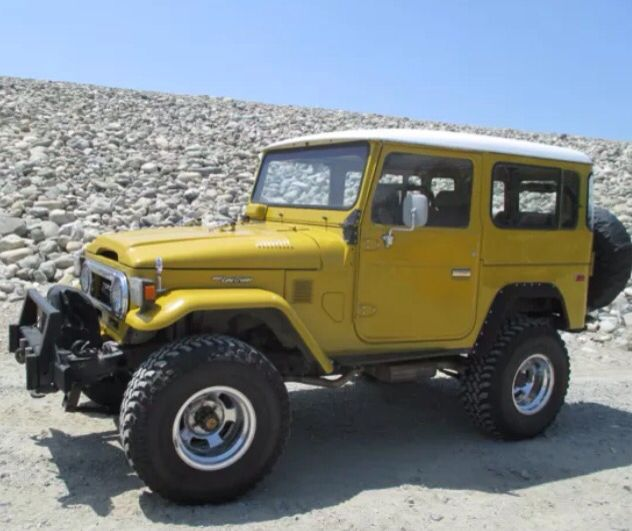 toyota land cruiser fj40 mustard yellow 77 79ish toyota land rh pinterest com
