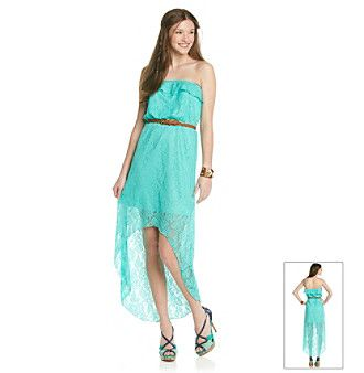 Product: Trixxi® Juniors' Crochet Strapless Hi Low Maxi Dress ...