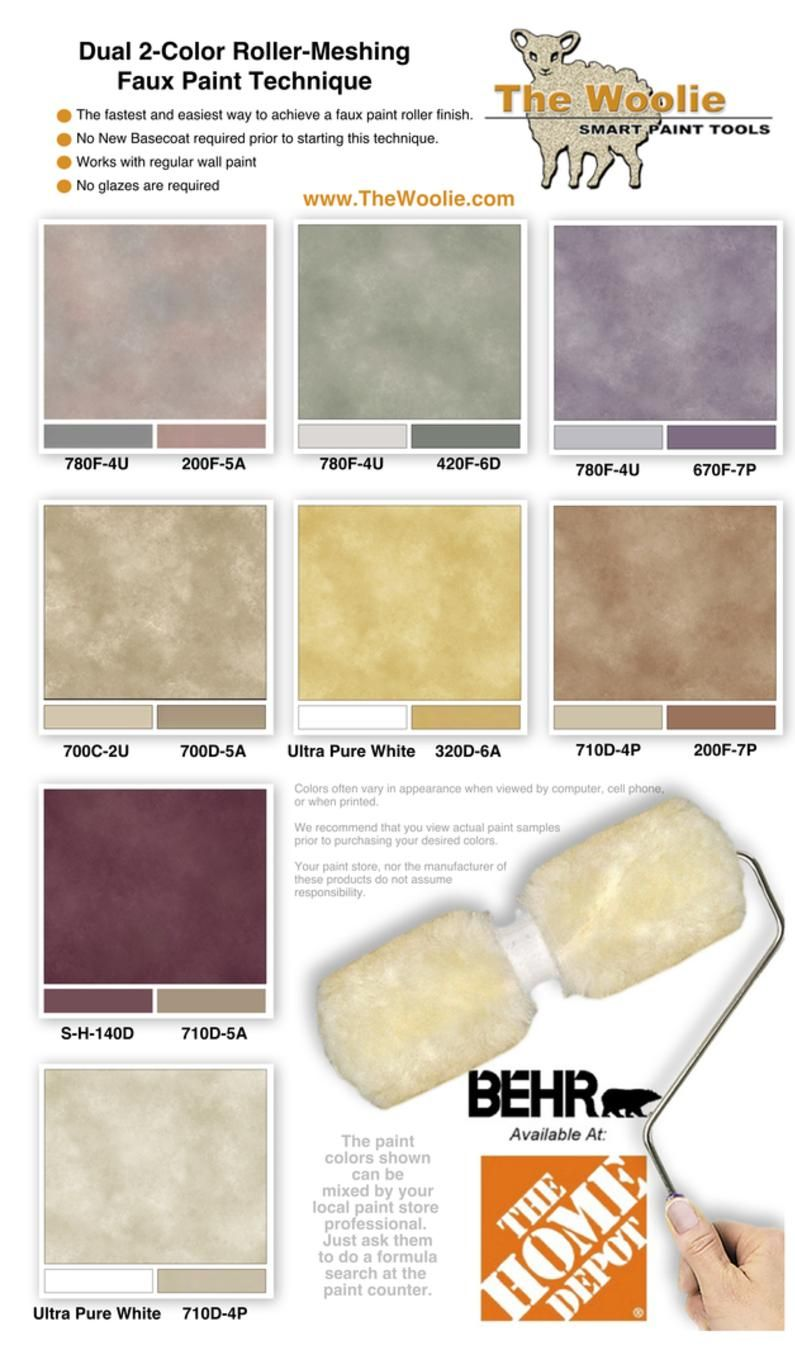 Home Depot Faux Finish Paint Color Combinations and Ideas using Behr ...
