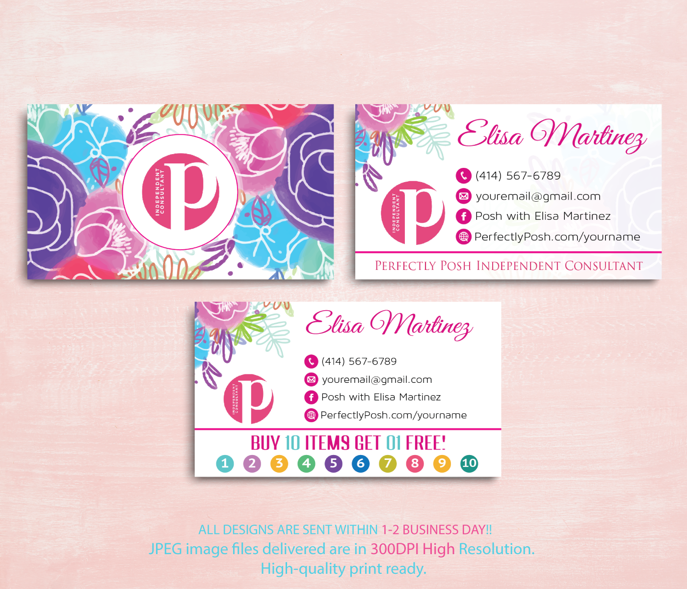 Perfectly Posh Business Cards Perfectly Posh Punch Card Ps07this Design Is A Custom Printabl Perfectly Posh Business Perfectly Posh Consultant Perfectly Posh