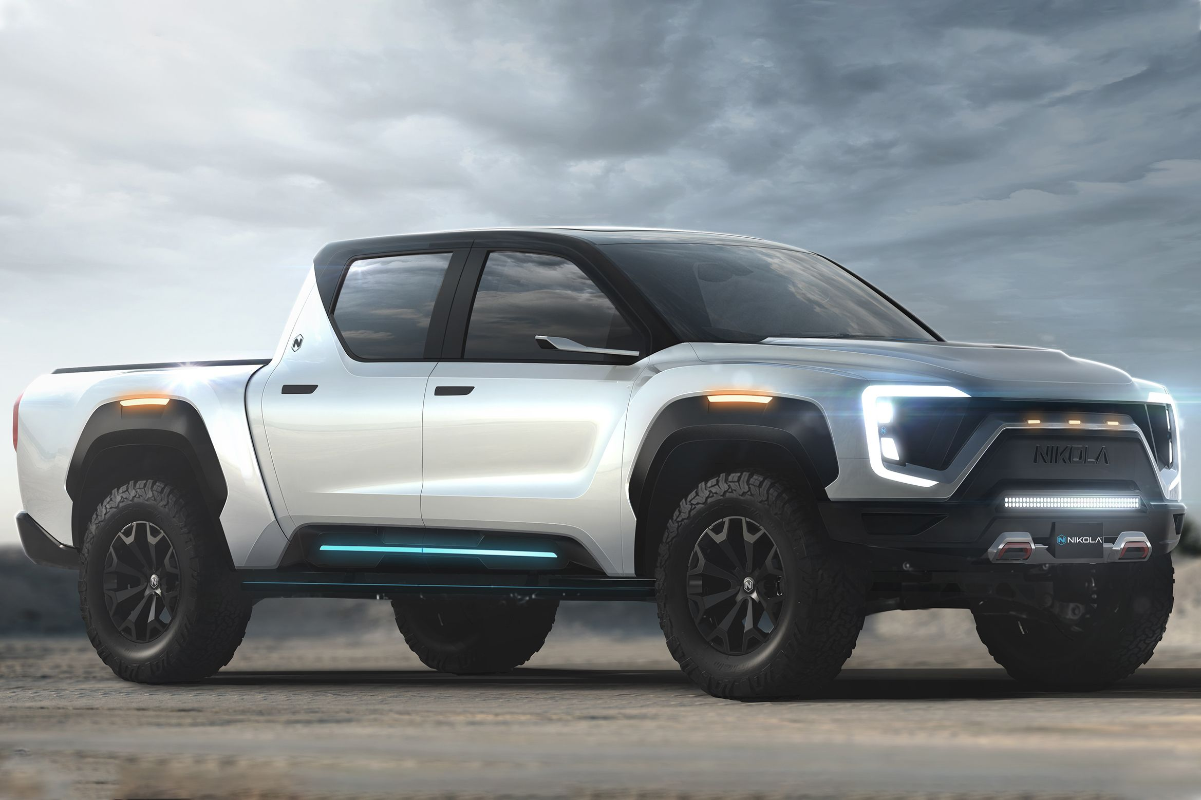 Hydrogen fuelcell truck nikola badger joins electric