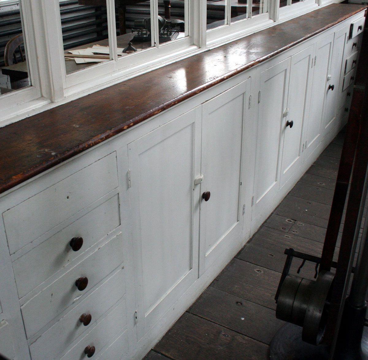Thomas Edison\'s Menlo Park cabinets. Circa 1870. | Kitchen Cabinets ...