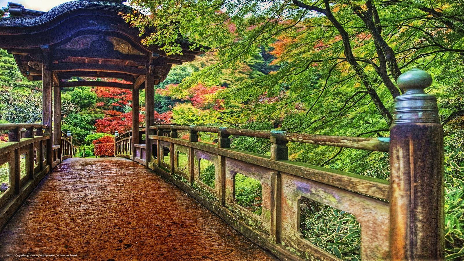 Download wallpaper yokohama, japan, park, colorful free