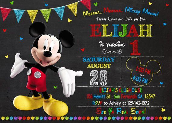 Invitación De Mickey Mouse Para Imprimir Mickey Por