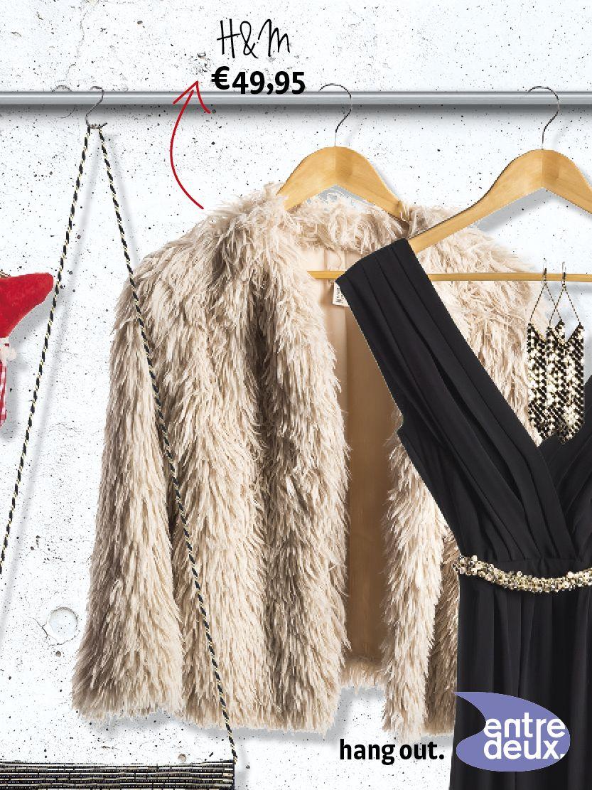 Ga voor een warm jasje over je feestkleding. Uiteraard van imitatiebont. H&M € 49,90