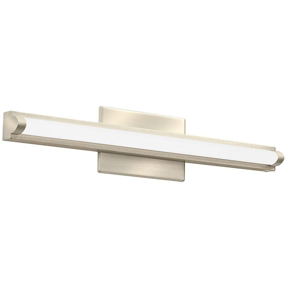 Lithonia Led Bathroom Lighting lithonia lighting contemporary arrow 2-light brushed nickel 3k led
