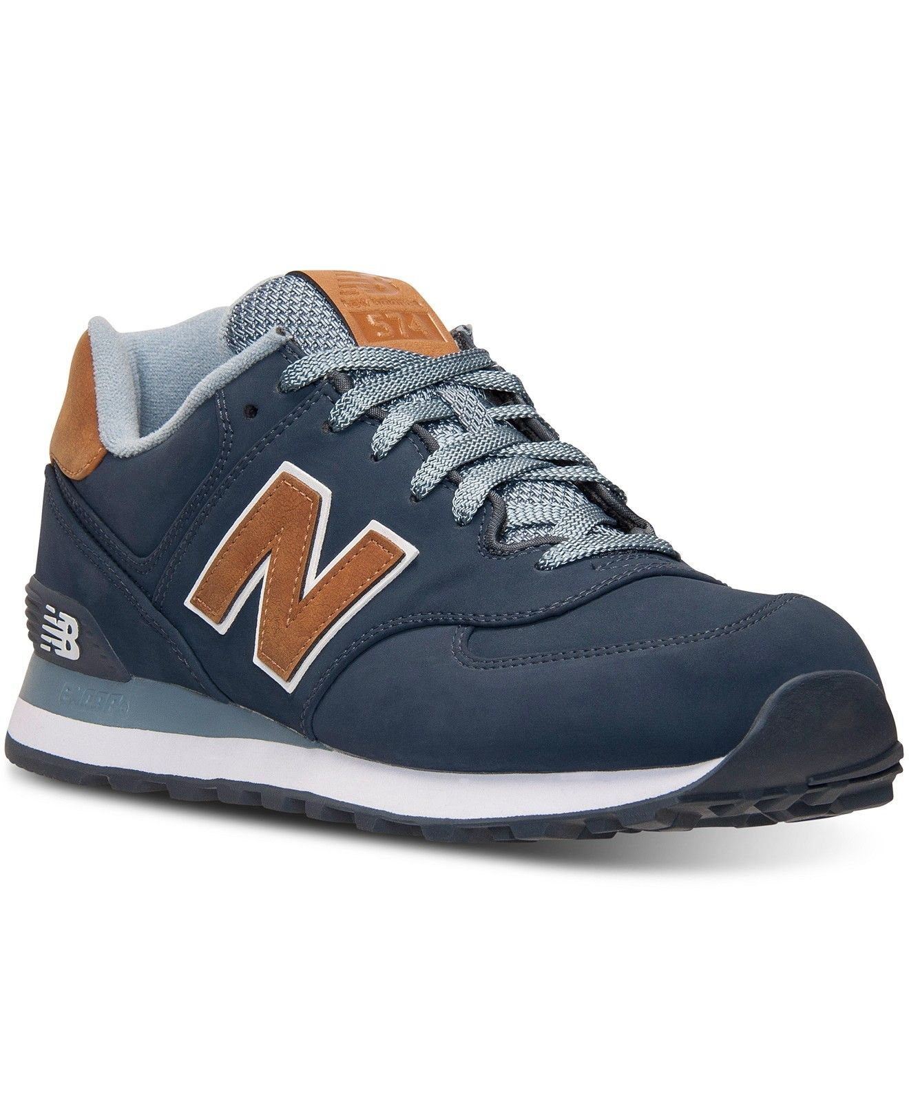 5aee1d150cd7 New Balance Men s 574 Casual Sneakers from Finish Line - Finish Line  Athletic Shoes - Men - Macy s