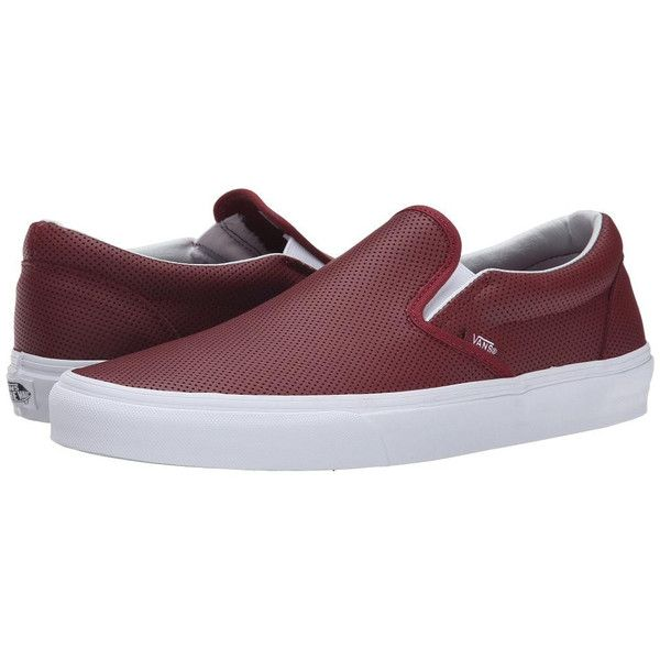 VANS Classic Slip-On - (Perf Leather) Port  shop-mg ZP-7213526-581118  -   39.99   Vans Shop f883c5791