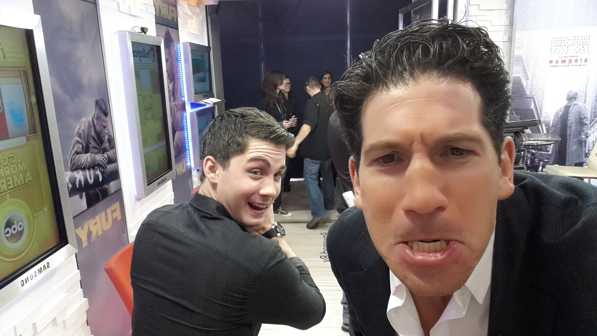 some fun in socialsquare fury stars logan lerman jon some fun in fury stars logan lerman jon bernthal watch the full interview