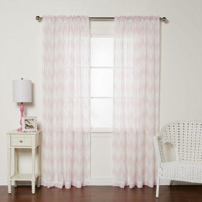 Best Home Fashion, Inc. Rod Pocket Curtain Panels