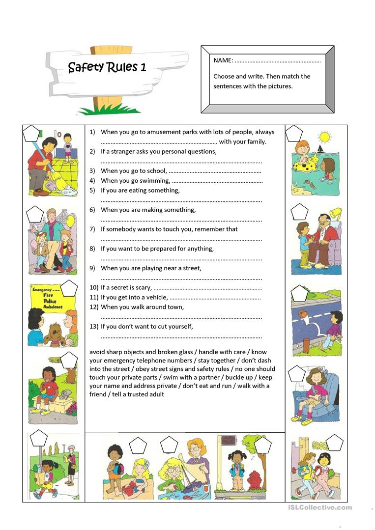 Safety Rules English Esl Worksheets For Distance Learning And Physical Classrooms En 2021 Proyectos