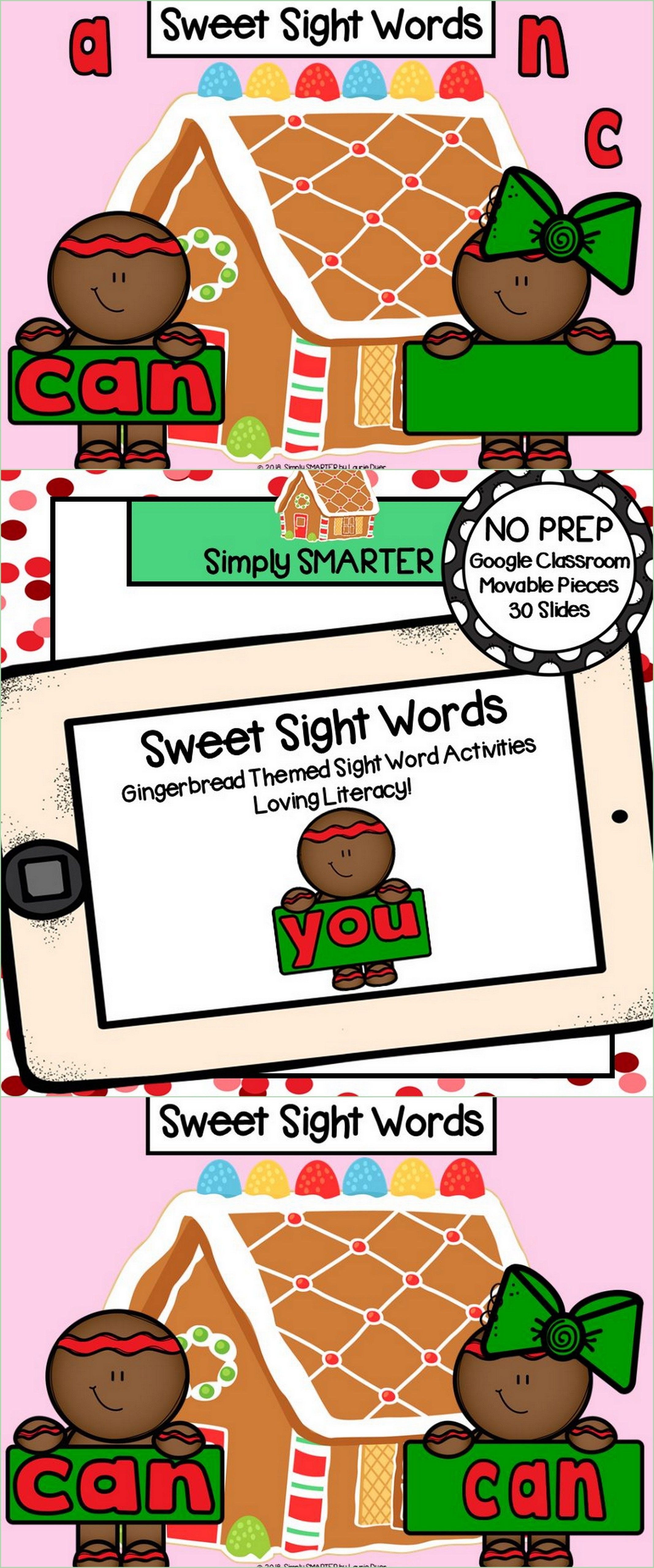 Gingerbread Themed Sight Word Activities For