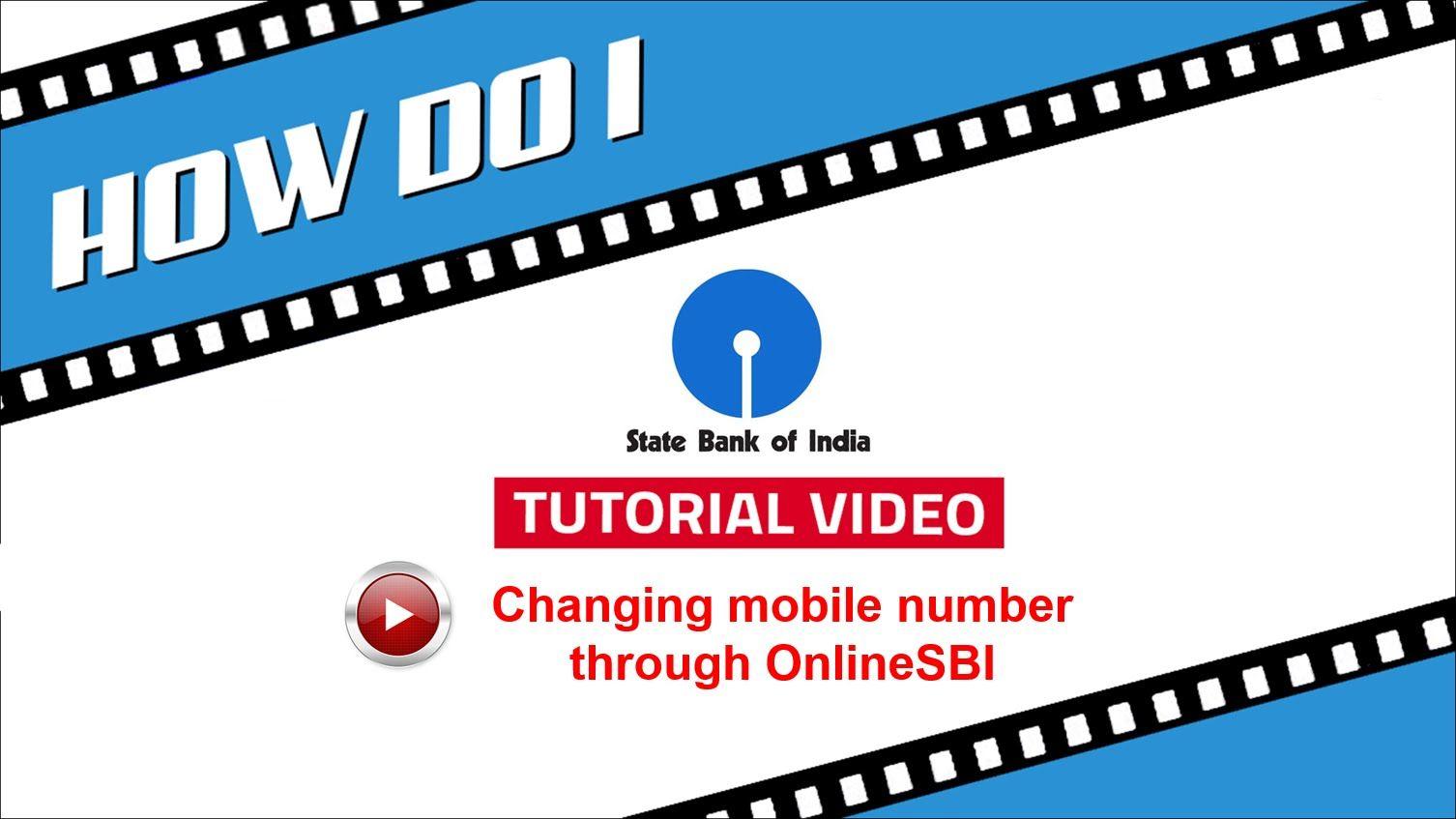 SBI INB: Change mobile number through OnlineSBI | How Do I | Pinterest