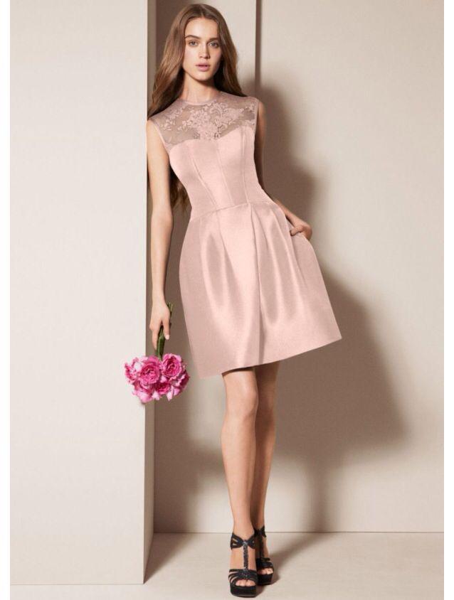 Vera Wang blush bridesmaid\'s dress❤   Wedding❤   Pinterest