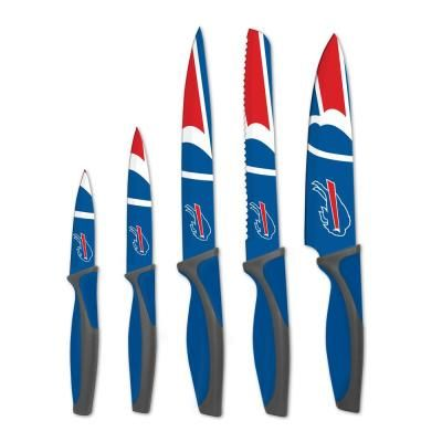 sportsvault NFL Buffalo Bills 5-Piece Kitchen Knives