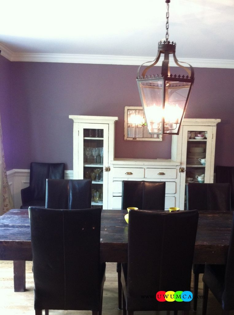 Dining Room Purple Paint Ideas Part - 29: Dining Room:Decorating Purple Dining Room Purple Color Dining Space Walls Paint  Ideas Table And