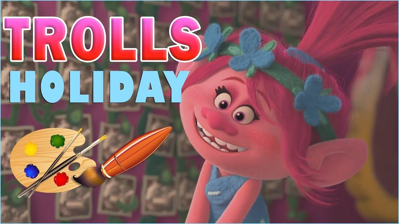 Coloring Pages Trolls : Poppy trolls holiday coloring kids coloring book coloring