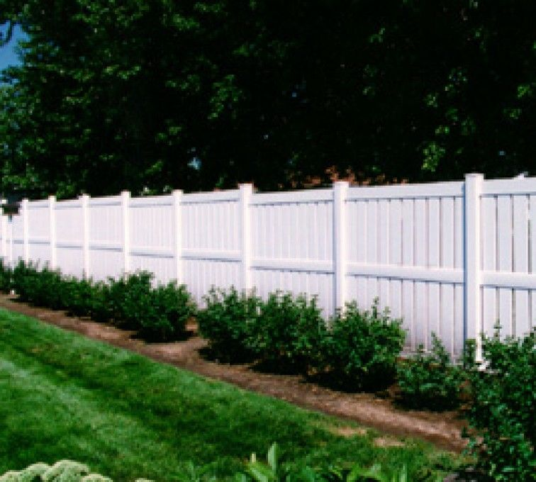 Semi-Private PVC Fence The American Fence Company Vinyl Fencing