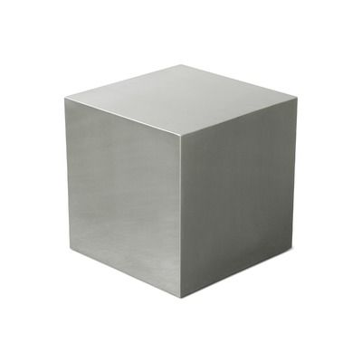 stainless steel cube end table mid century side tables furniture rh pinterest com
