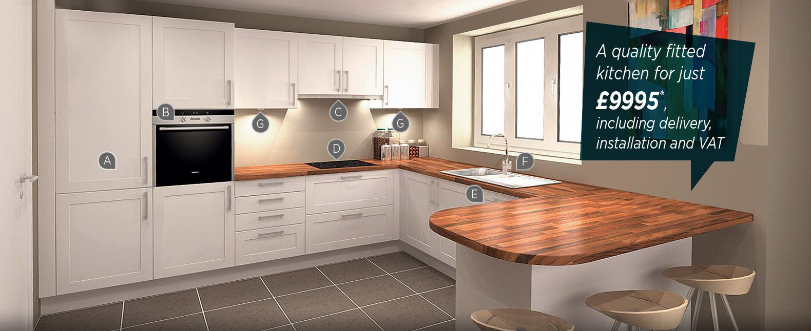 Quality fitted kitchen for just 9995 including