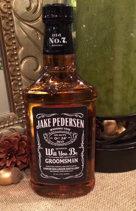 Will You Be My Groomsmen Whiskey Labels Fits Jack Daniels 750ml Bottles 7 Gifts For Wedding Party Whiskey Wedding Wedding Groomsmen