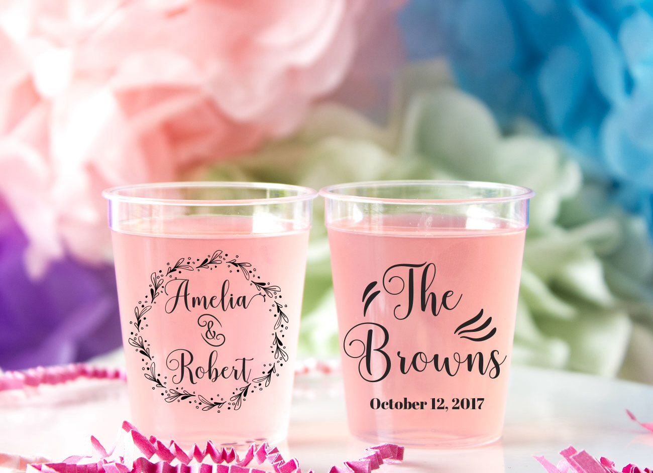 Wedding Shot Glass, Plastic Custom Shot Glass, Personalized Shot ...