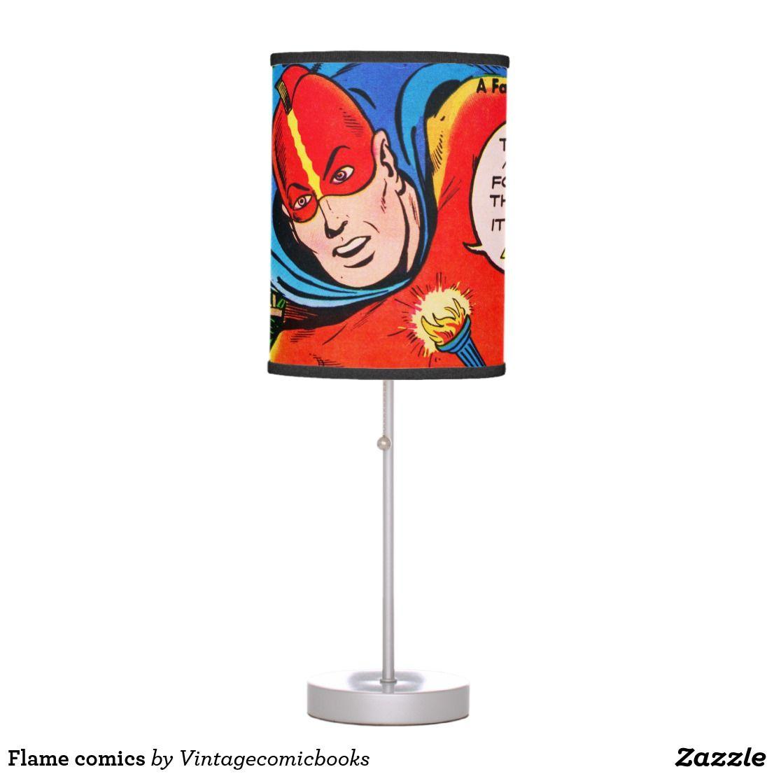 flame comics vintage comic book art desk lamp rock it retro rh pinterest com