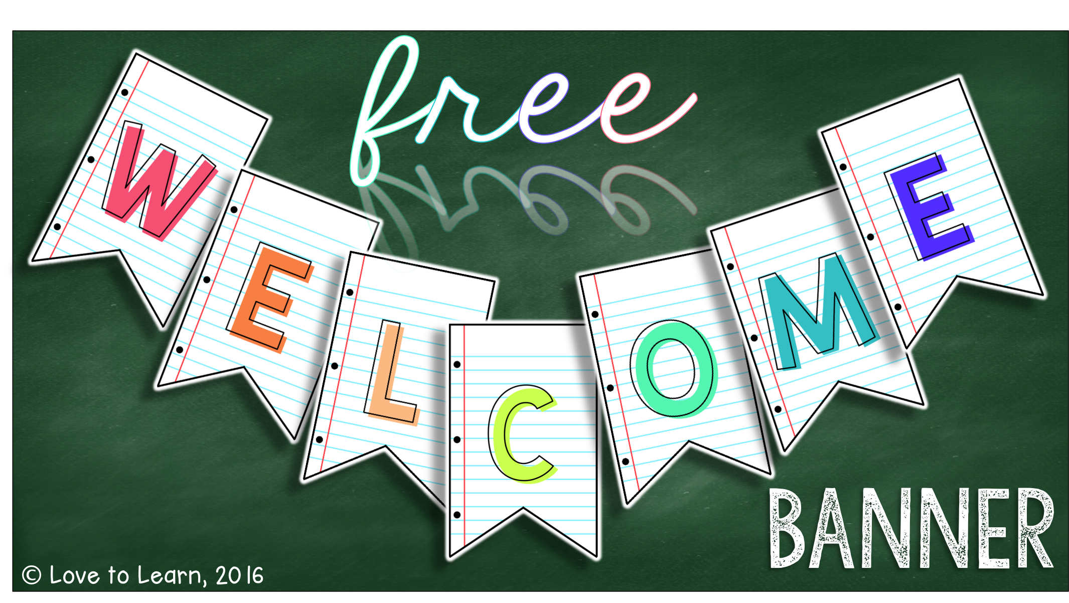 photo relating to Free Printable Welcome Banner named Costume up your clroom with this Totally free printable welcome